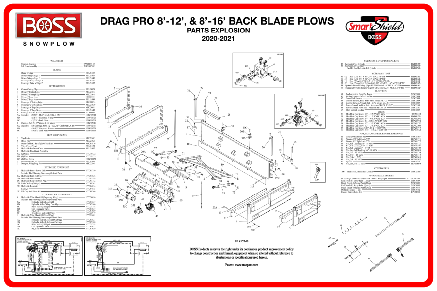 boss drag pro back blade plow diagrams from iteparts