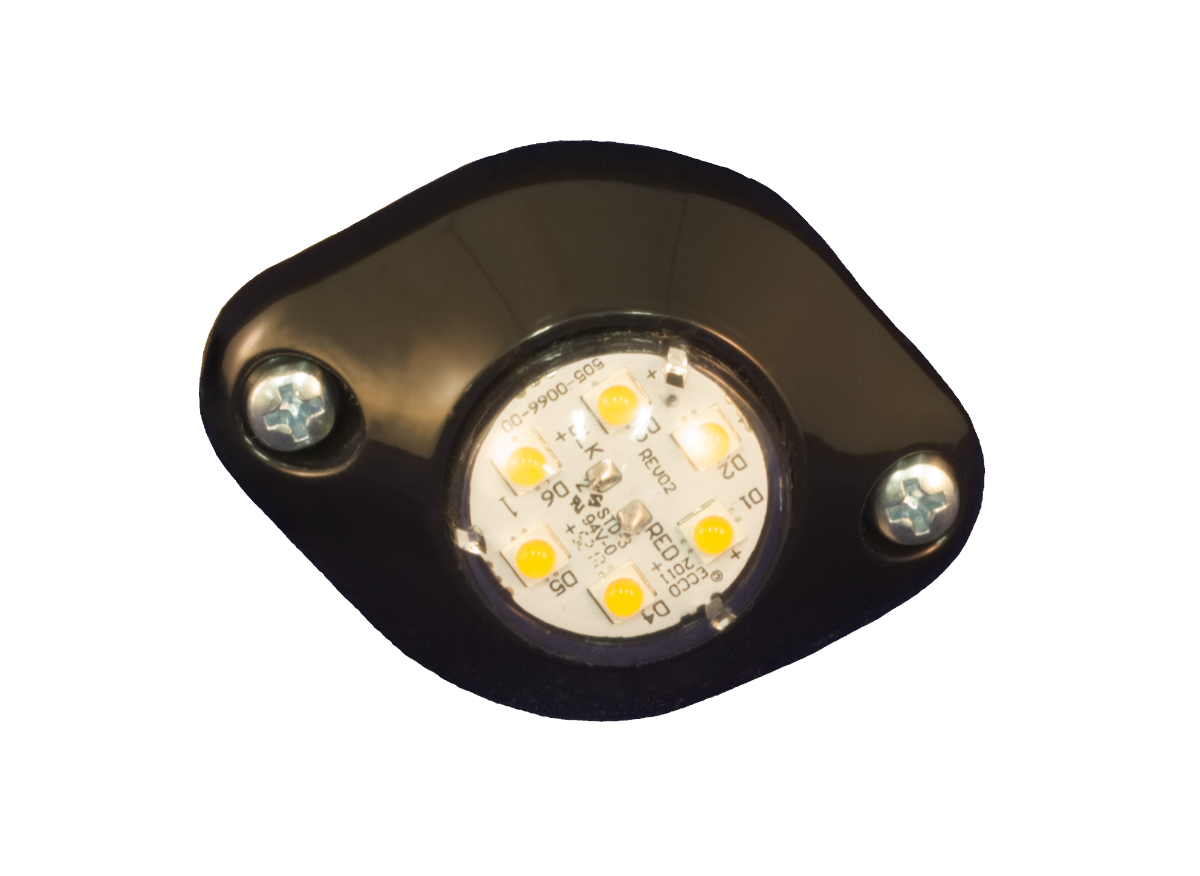 ECCO 9014A - Concealed 6 LED Amber