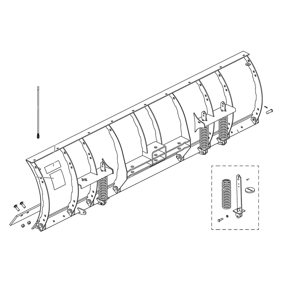 Fisher HD2 - Straight Blade Diagram