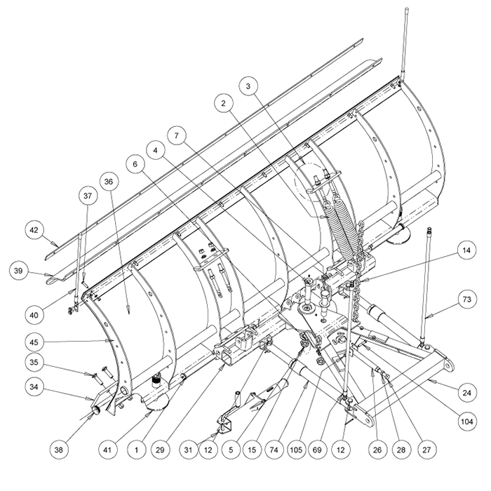 parts and diagrams snowdogg snowplow parts and diagrams iteparts com ex75 snowplow diagram