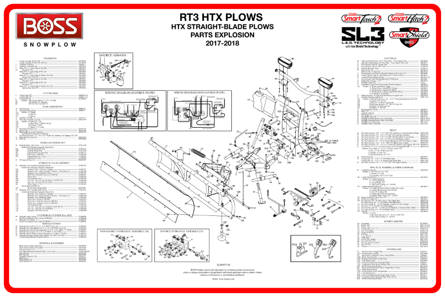 boss snowplow parts diagrams from iteparts