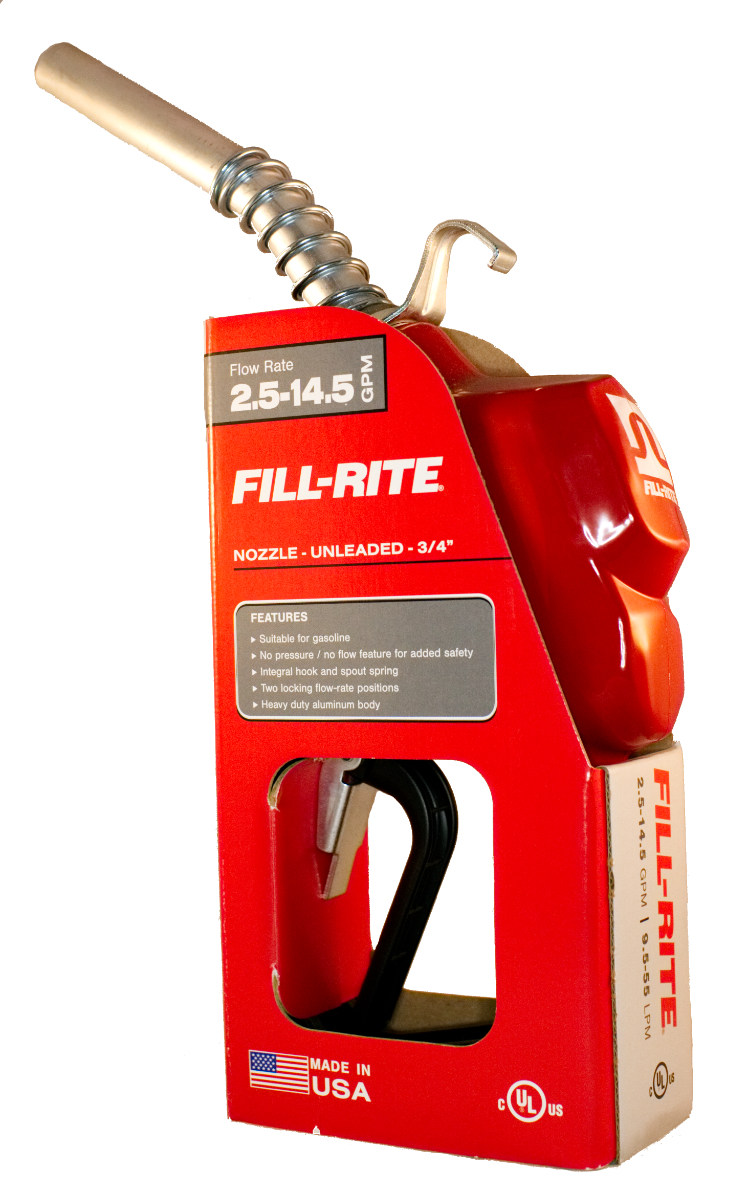 Fill-Rite N075UAU10 - 3/4 in Auto Nozzle with Hook - Unleaded