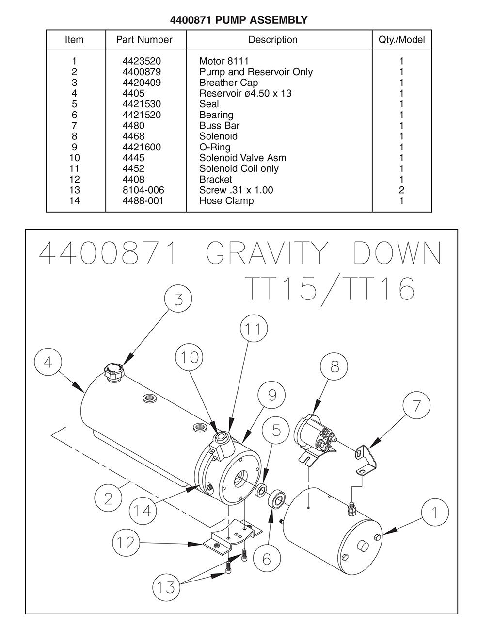 Liftgate Diagrams - Thieman Tailgate Pump Parts
