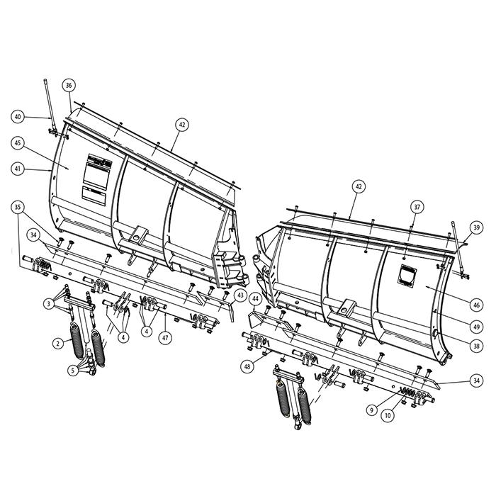parts and diagrams - snowdogg snowplow parts and diagrams