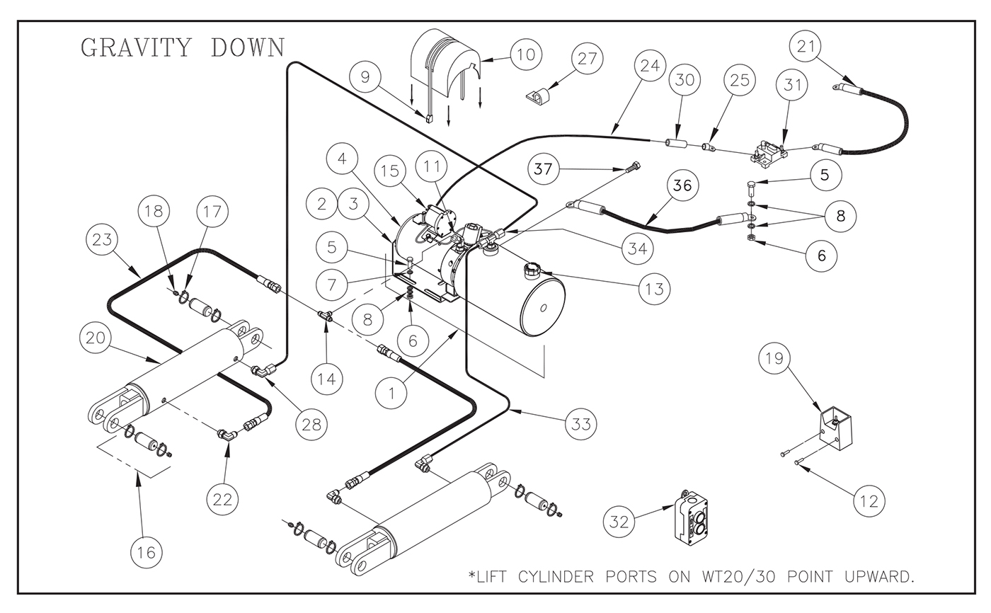 Thieman Conventional Liftgate  30  40 Parts Diagrams