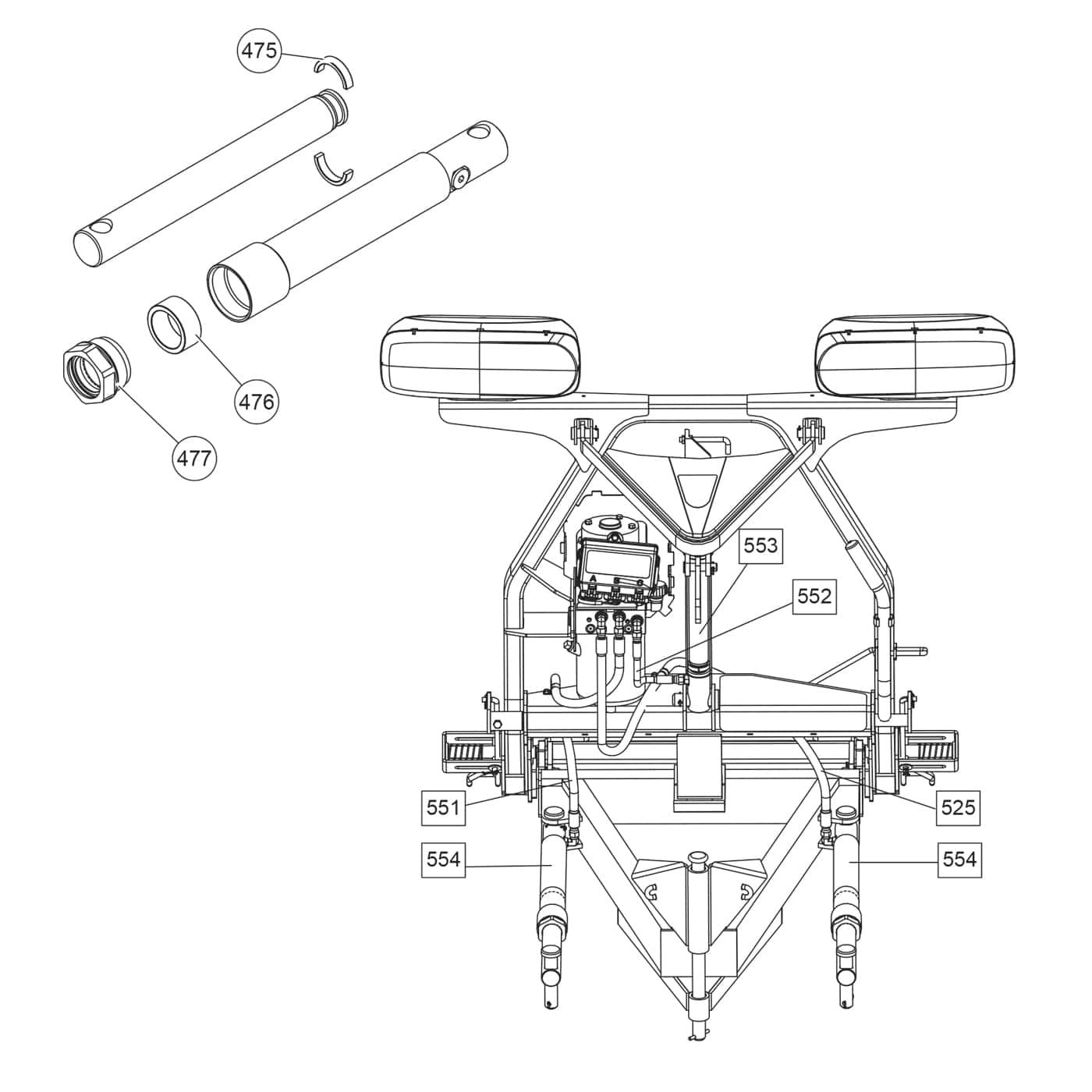 fisher xblade - hydraulics diagram