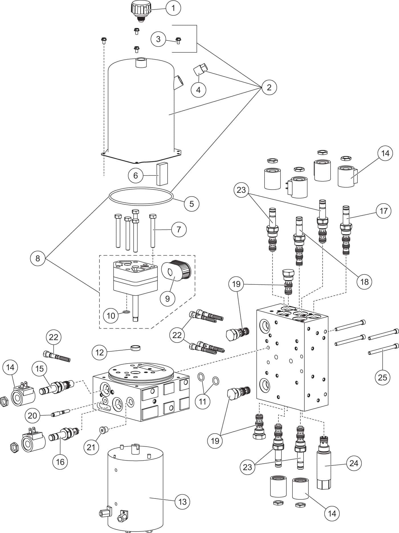 fisher xls - hydraulics diagram