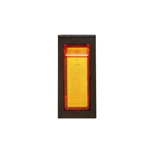 ECCO Lighting Rocker Switch: 12VDC| SPST| illuminated amber (requires A9893 switch panel)