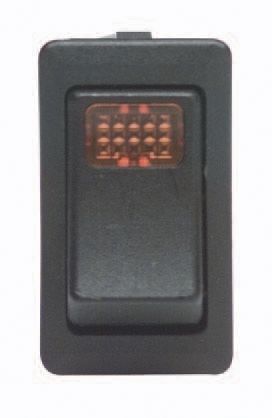 ECCO Lighting Rocker Switch: Illuminated| 12VDC| SPST