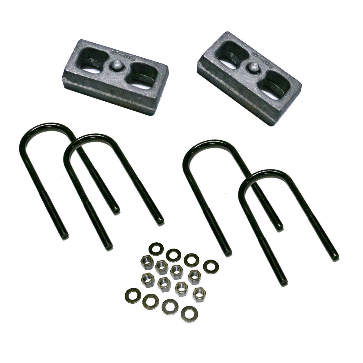 "1.5"" Rear Block Kit for 1973-87 GM 1/2 Ton Pickup and 1973-1991 Suburban, Jimmy, and Blazer"