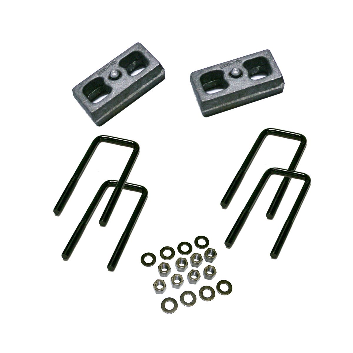 "1.5"" Rear Block Kit for 1979-1995 Toyota Pickup with 2.5"" Wide Ubolts and 1979-1986 4-Runner"