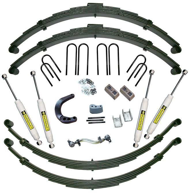 "12"" GM Suspension Lift Kit (with Rear Springs) - 1973-1991 1/2 Ton Solid Axle Vehicles 4WD"