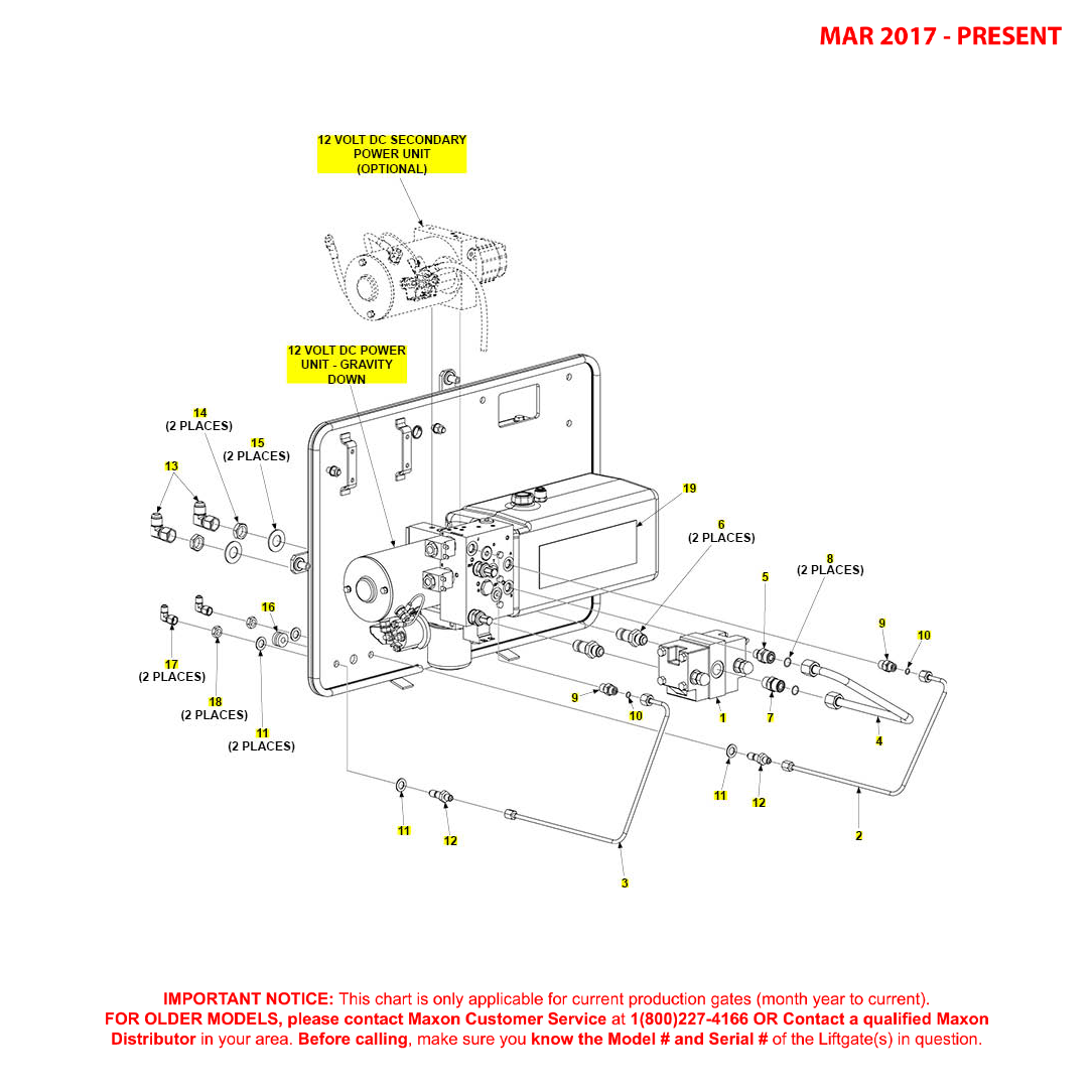 BMR (Mar 2017 - Present) Gravity Down Bucher Hydraulics Pump Assembly Diagram