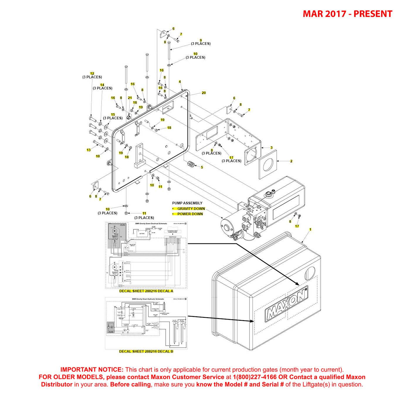BMR (Mar 2017 - Present) Bucher Hydraulics Pump Cover Mounting Plate Assembly Diagram