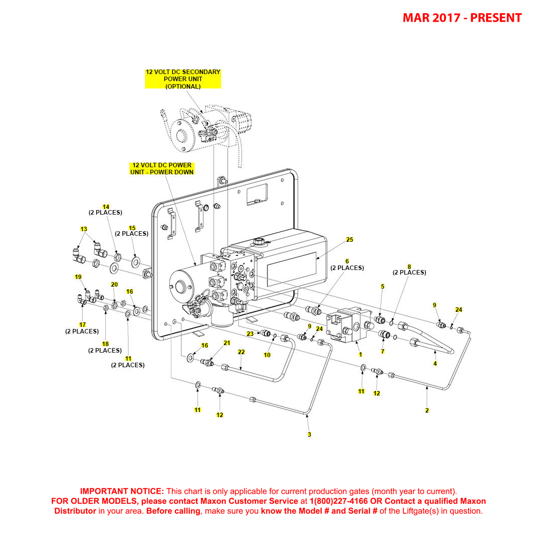 BMR (Mar 2017 - Present) Power Down Bucher Hydraulics Pump Assembly Diagram