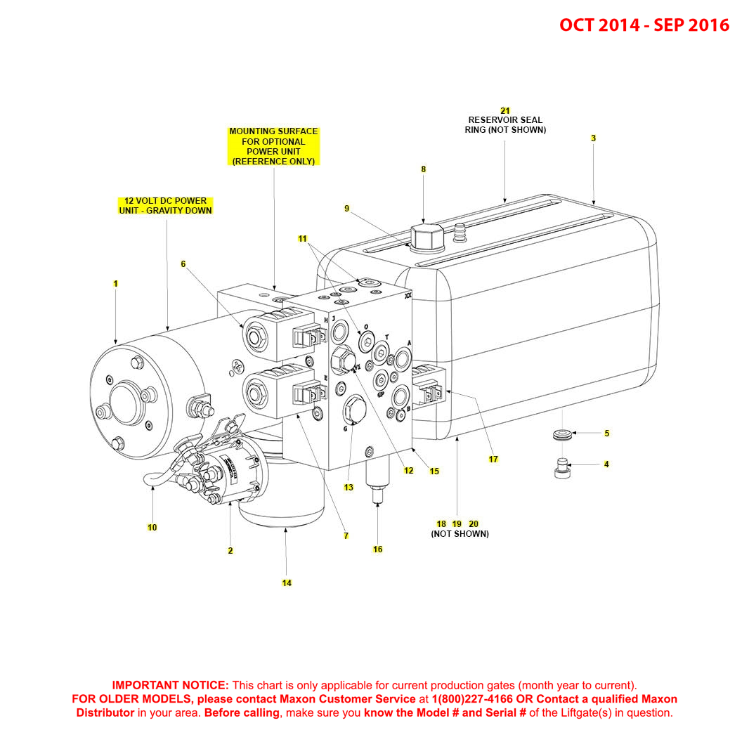 BMR (Oct 2014 - Sep 2016) 12VDC Gravity Down Power Unit Diagram