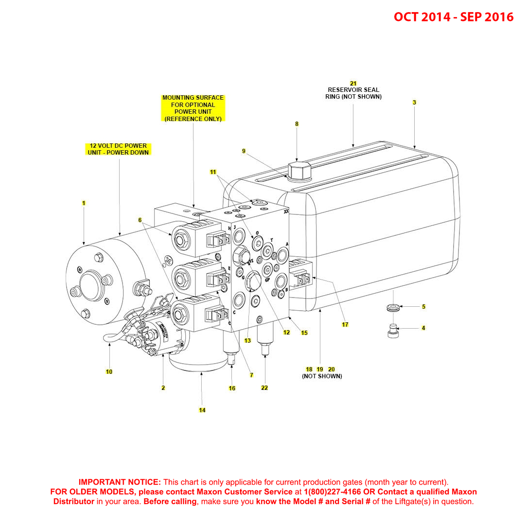 BMR (Oct 2014 - Sep 2016) 12VDC Power Down Power Unit Diagram