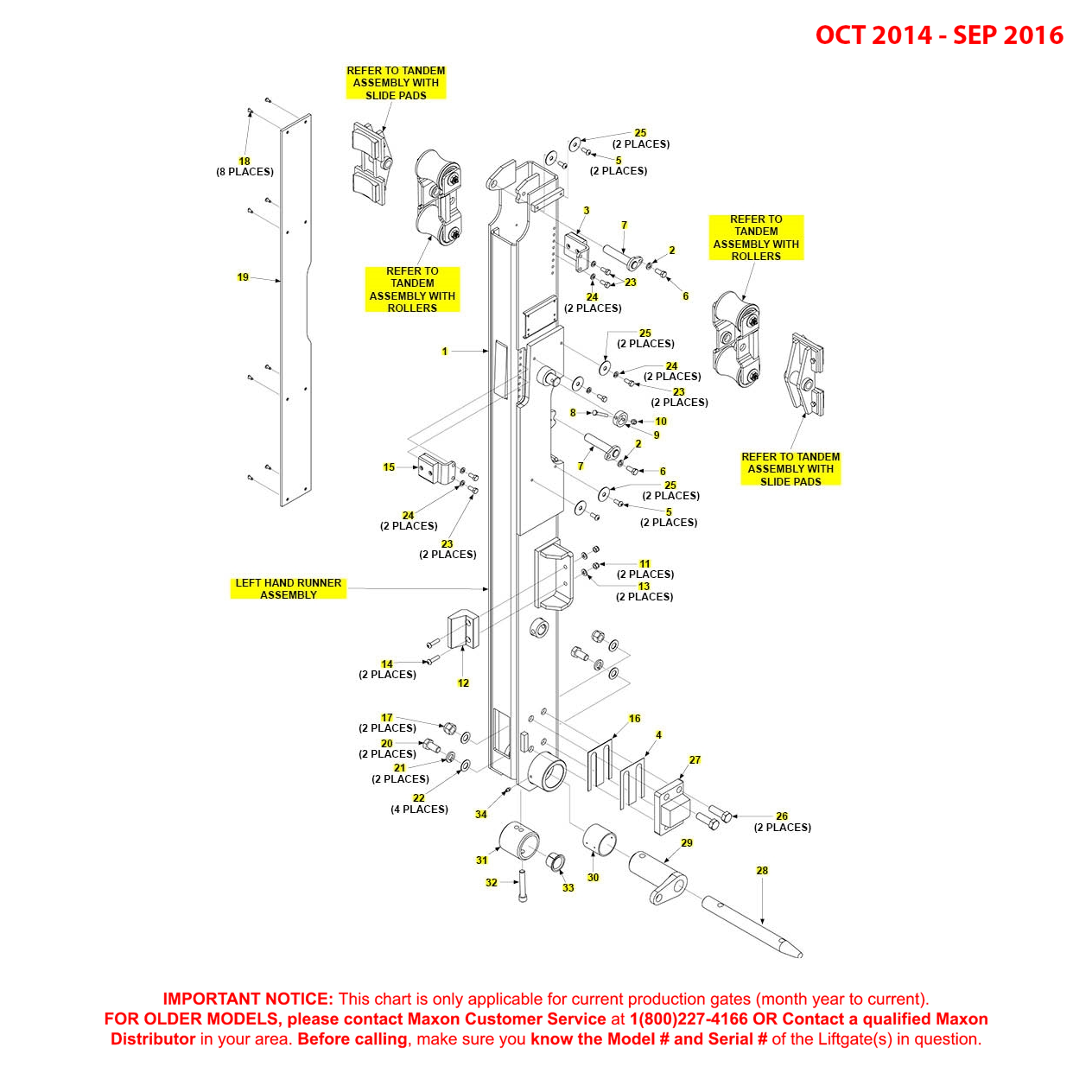 BMR (Oct 2014 - Sep 2016) Left Hand Runner Assembly Diagram