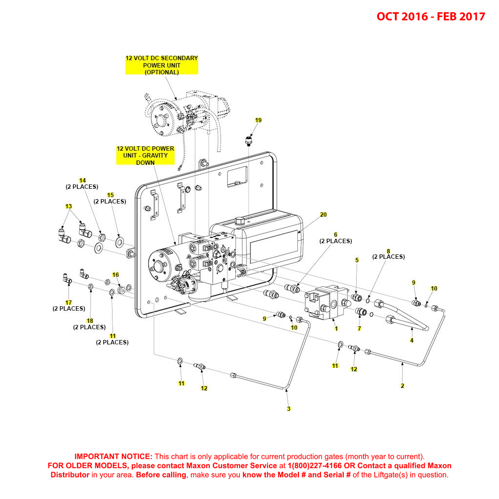 BMR (Oct 2016 - Feb 2017) MTE Hydraulics Gravity Down Pump Assembly Diagram
