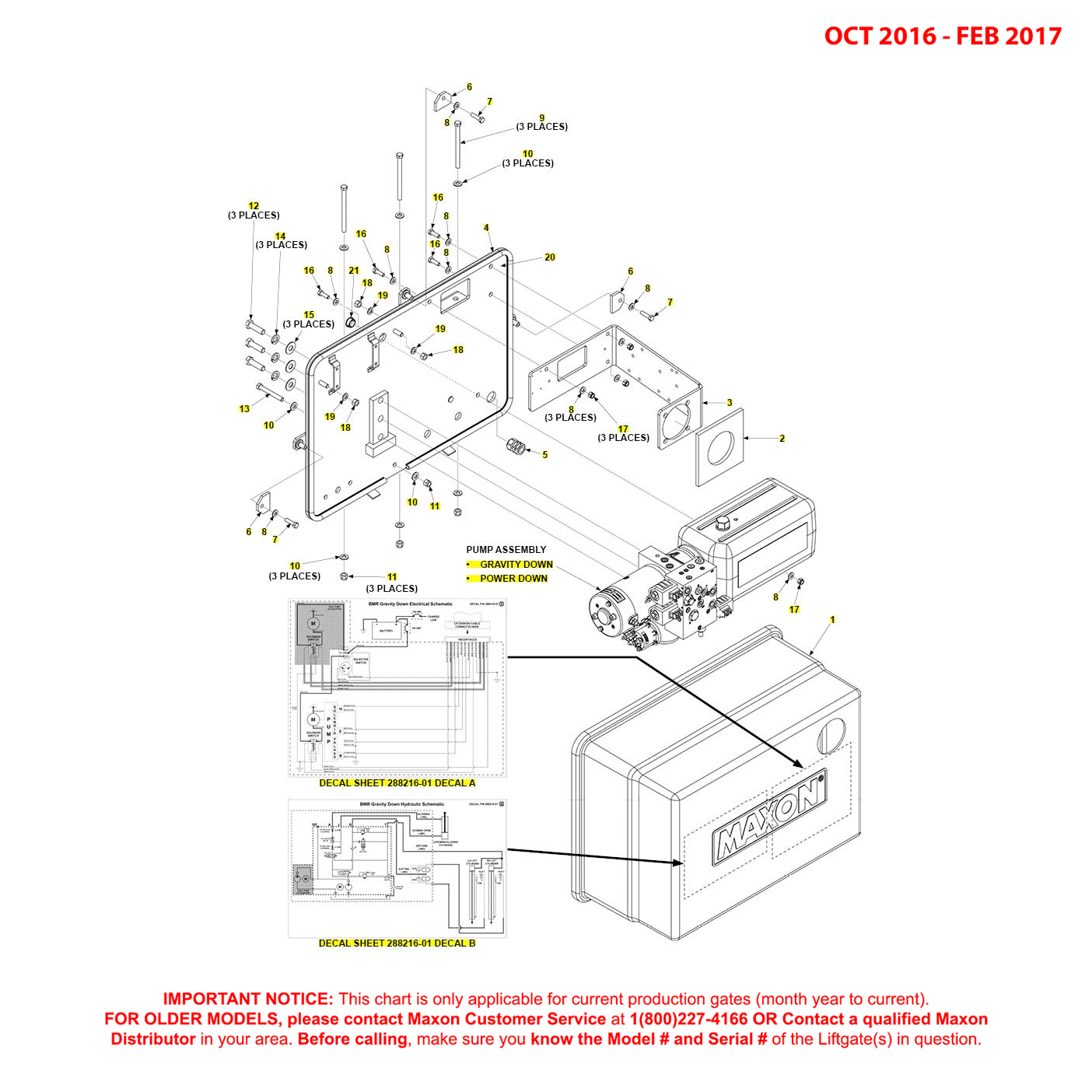BMR (Oct 2016 - Feb 2017) Pump Cover Mounting Plate Assembly Diagram