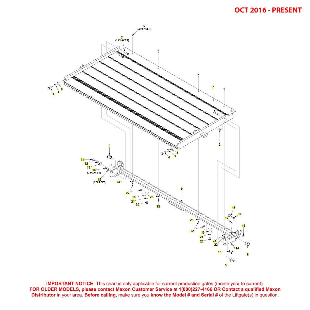 BMR (Oct 2016 - Present) Aluminum Platform Assembly Diagram