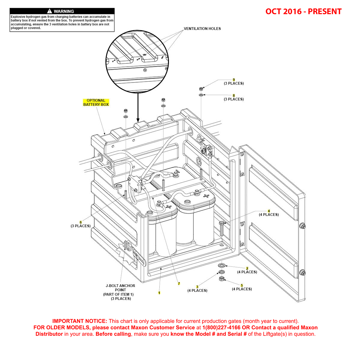 BMR (Oct 2016 - Present) Optional Battery Box Assembly Diagram