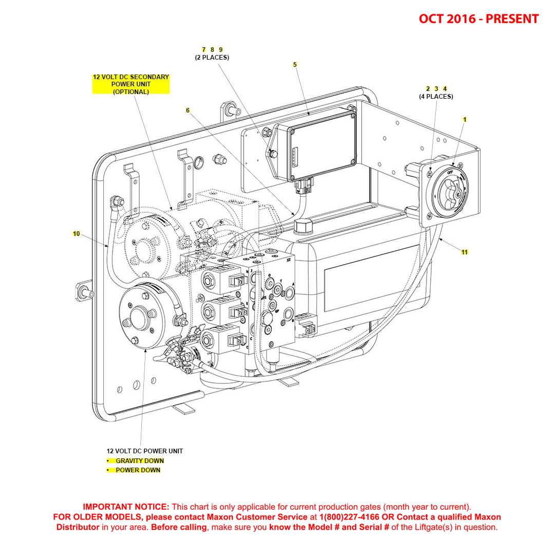BMR (Oct 2016 - Present) Pump Assembly Electrical Components Diagram
