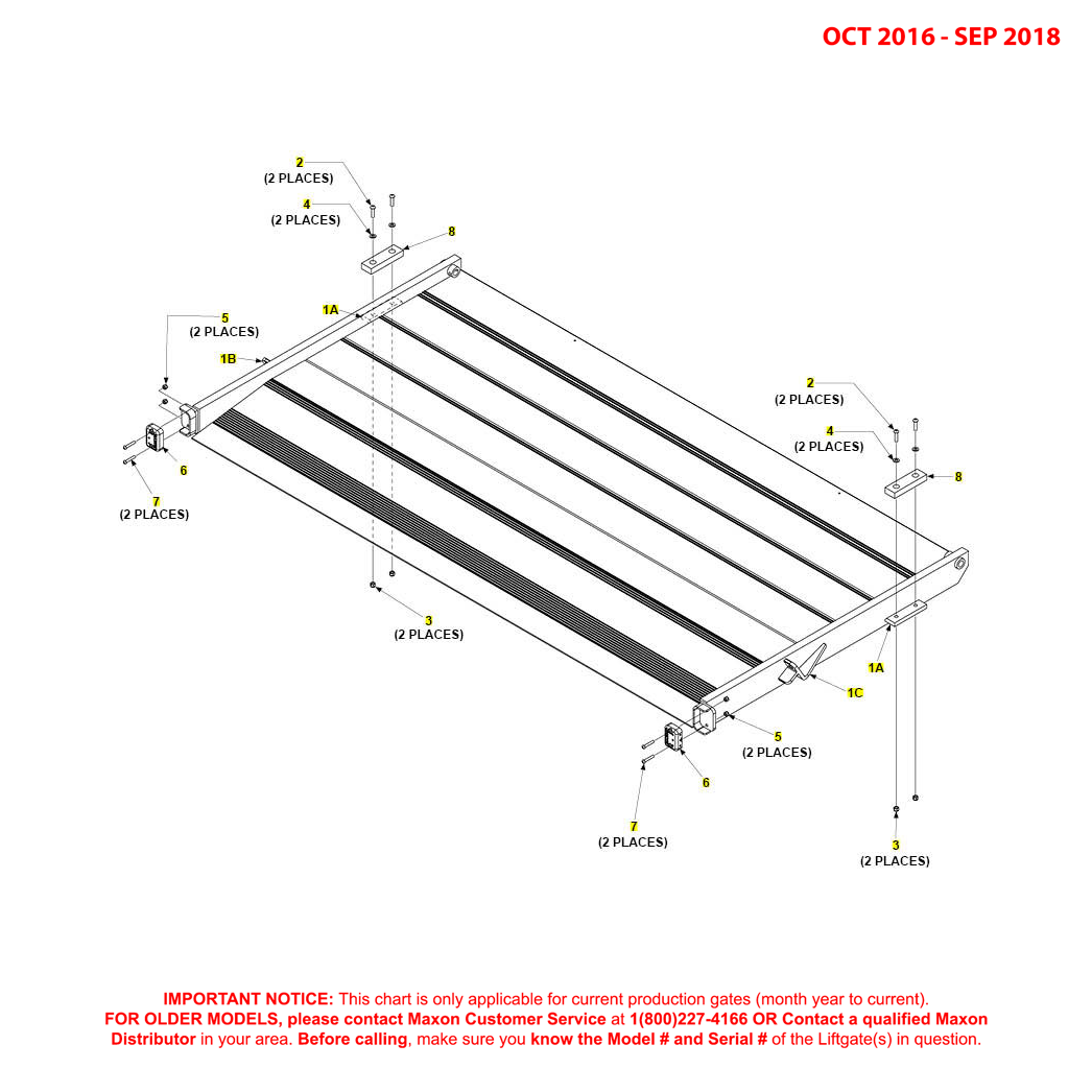BMR (Oct 2016 - Sep 2018) Aluminum Flipover Assembly With Fixed Ramp