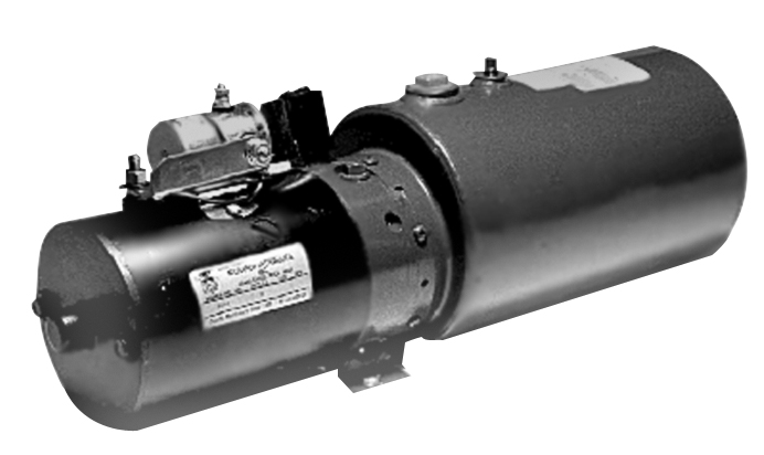 Gravity Down Liftgate Power Unit (Horizontal 1 Gal Steel Reservoir) [Leyman, Thieman, Waltco]