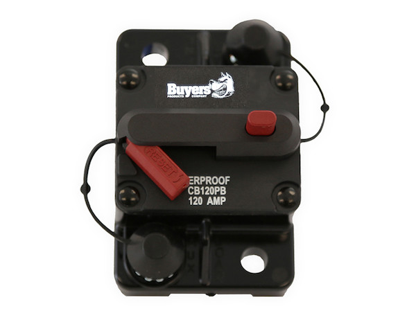 Buyers CB120PB - High-Amp Circuit Breakers with Manual Reset