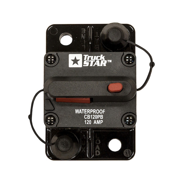 Buyers CB120PB - 120 Amp Circuit Breaker With Manual Push-To-Trip Reset