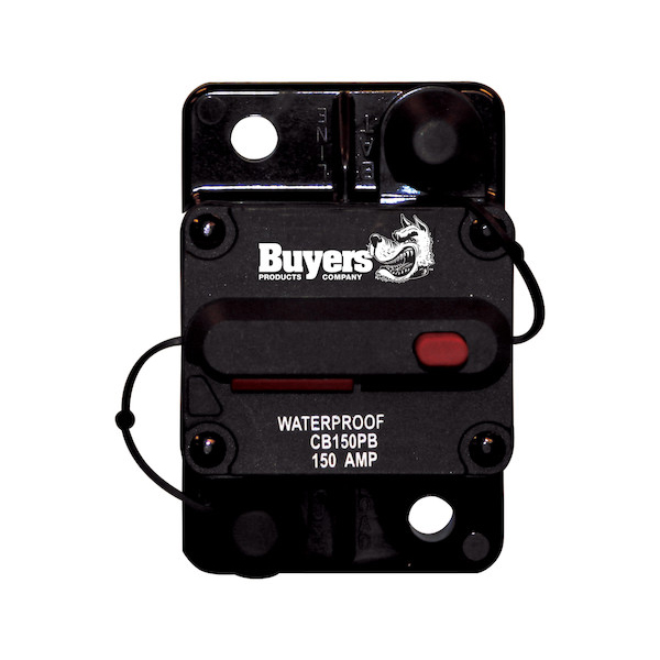 Buyers CB150PB - 150 Amp Circuit Breaker With Manual Push-To-Trip Reset