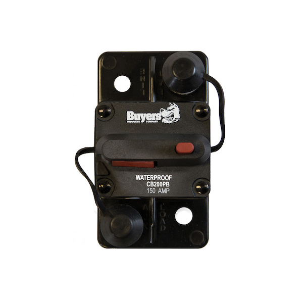 Buyers CB151PB - 150 Amp Circuit Breaker With Manual Push-To-Trip Reset With Large Frame