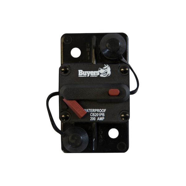 Buyers CB201PB - Large Frame 200 Amp Circuit Breaker With Manual Push-To-Trip Reset