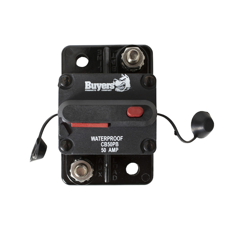 Buyers CB50PB - 50 Amp Circuit Breaker With Manual Push-To-Trip Reset