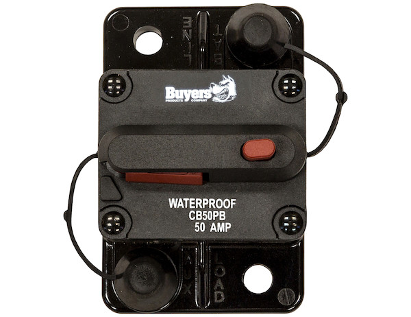 Buyers CB50 - High-Amp Circuit Breaker with Auto Reset