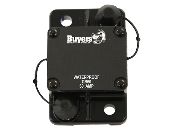 Buyers CB60 - High-Amp Circuit Breaker with Auto Reset