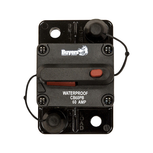 Buyers CB60PB - 60 Amp Circuit Breaker With Manual Push-To-Trip Reset