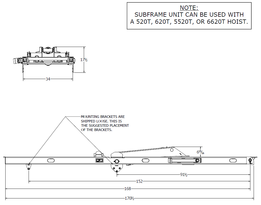 Champion Hoist Parts And Diagrams - 15 U0026 39  Champion Subframe Assembly