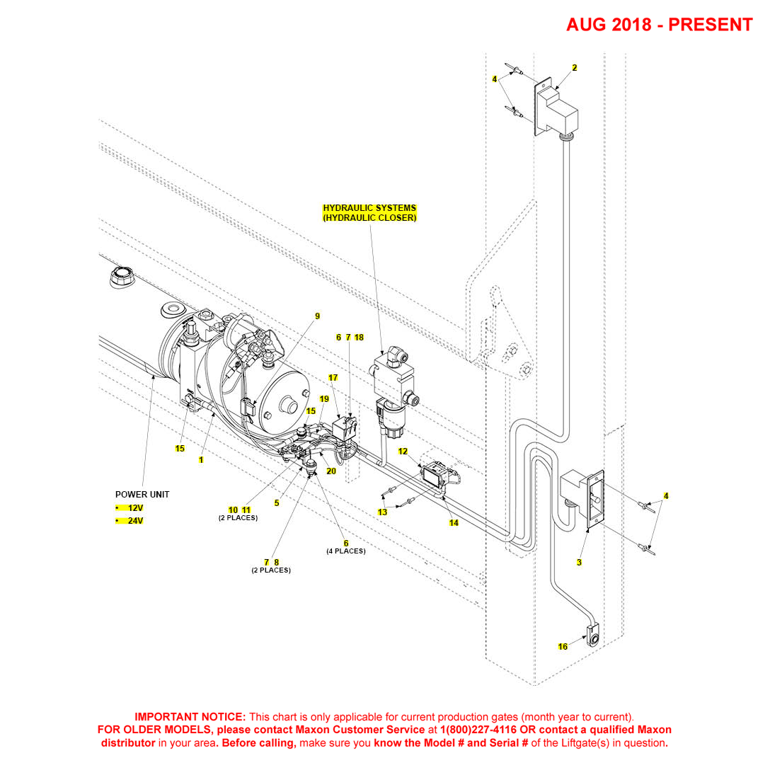 DMD (Aug 2018 - Present) Electrical Systems With Hydraulic Closer
