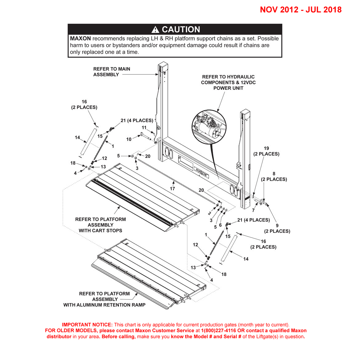 DMD (Nov 2012 - Jul 2018) Single Torsion Bar 1-Piece Platform Final Assembly With Cartstop OR Aluminum Retention Ramp