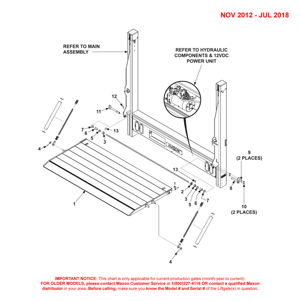 DMD (Nov 2012 - Jul 2018) Single Torsion Bar 1-Piece Platform Final Assembly Diagram - 1