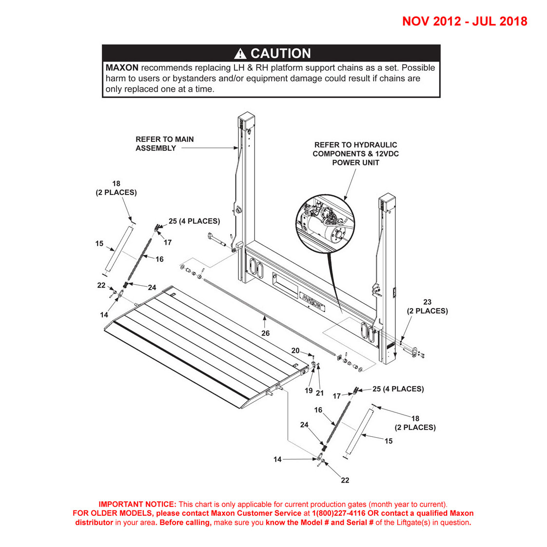 DMD (Nov 2012 - Jul 2018) Single Torsion Bar 1-Piece Platform Final Assembly Diagram - 2