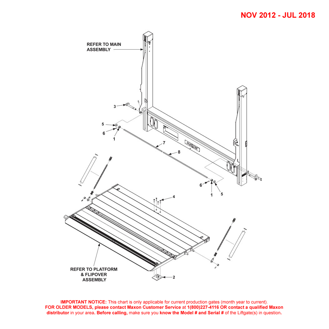 DMD (Nov 2012 - Jul 2018) 2-Piece Platform Final Assembly Diagram - 1