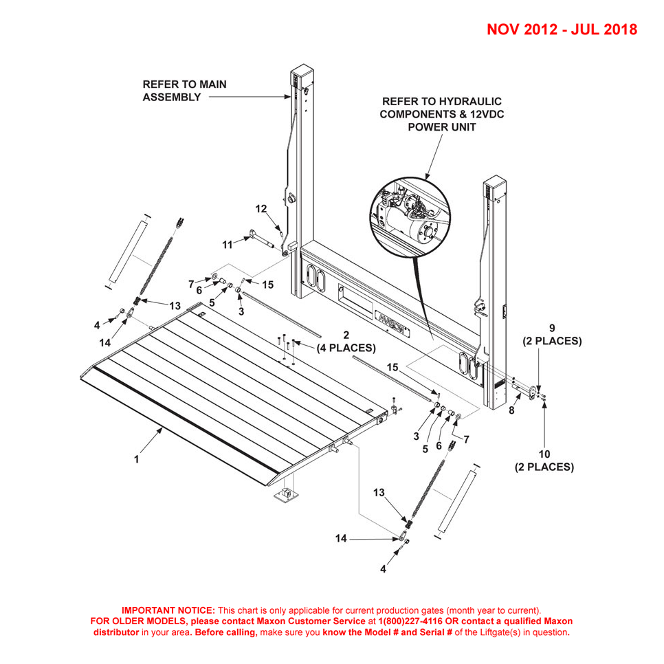 DMD (Nov 2012 - Jul 2018) Dual Torsion Bar 1-Piece Platform Final Assembly Diagram - 1