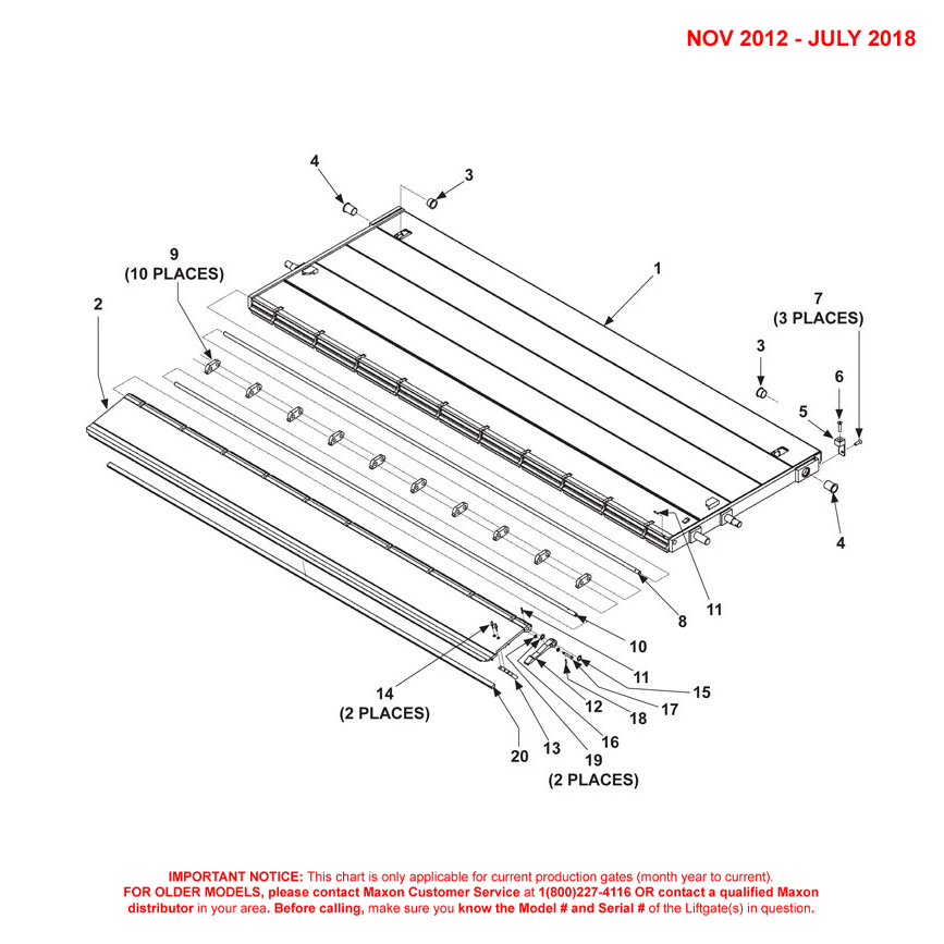 DMD (Nov 2012 - Jul 2018) Aluminum Platform 1-Piece With Aluminum Retention Ramp - 1