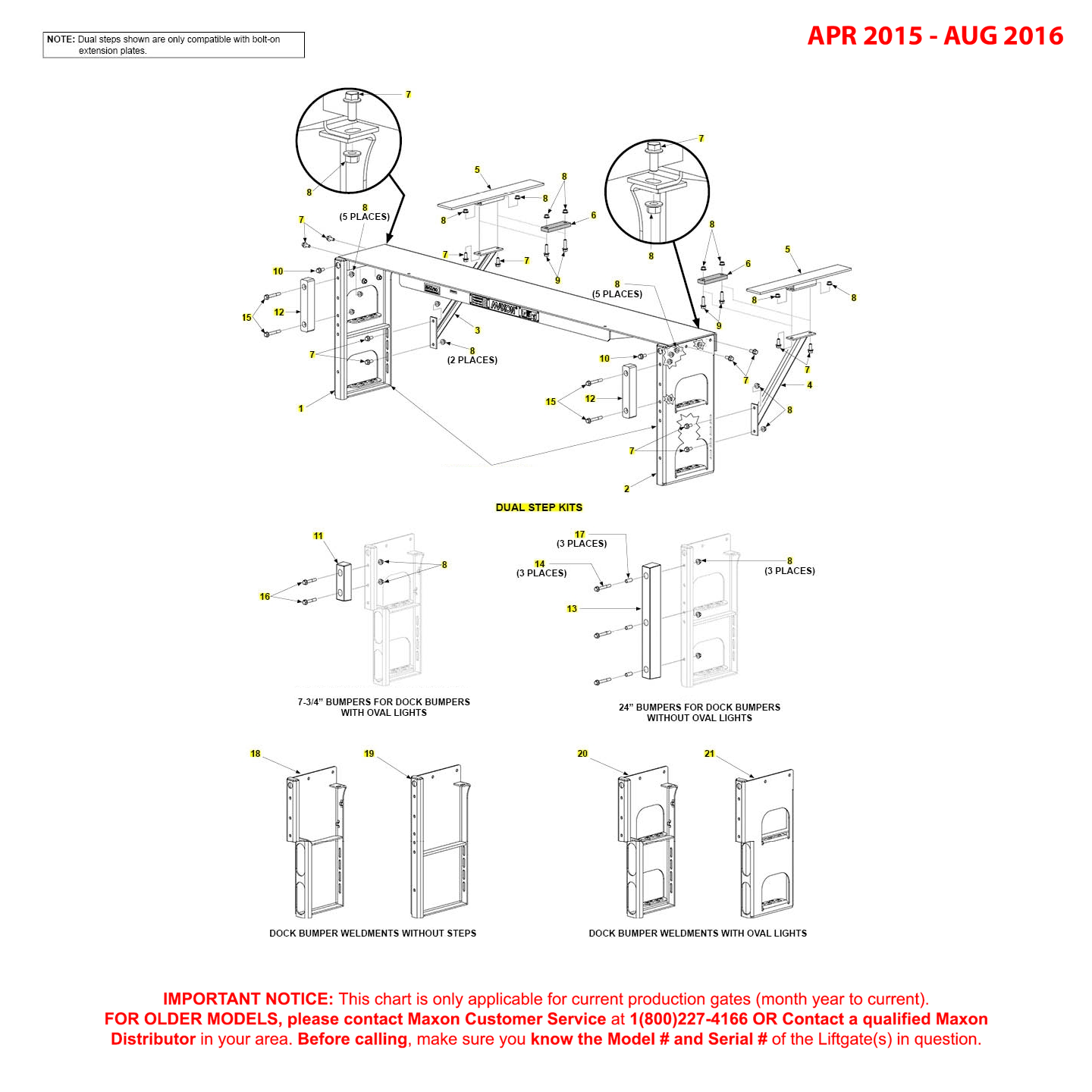 GPT (Apr 2015 - Aug 2016) Dual Step Kits Diagram