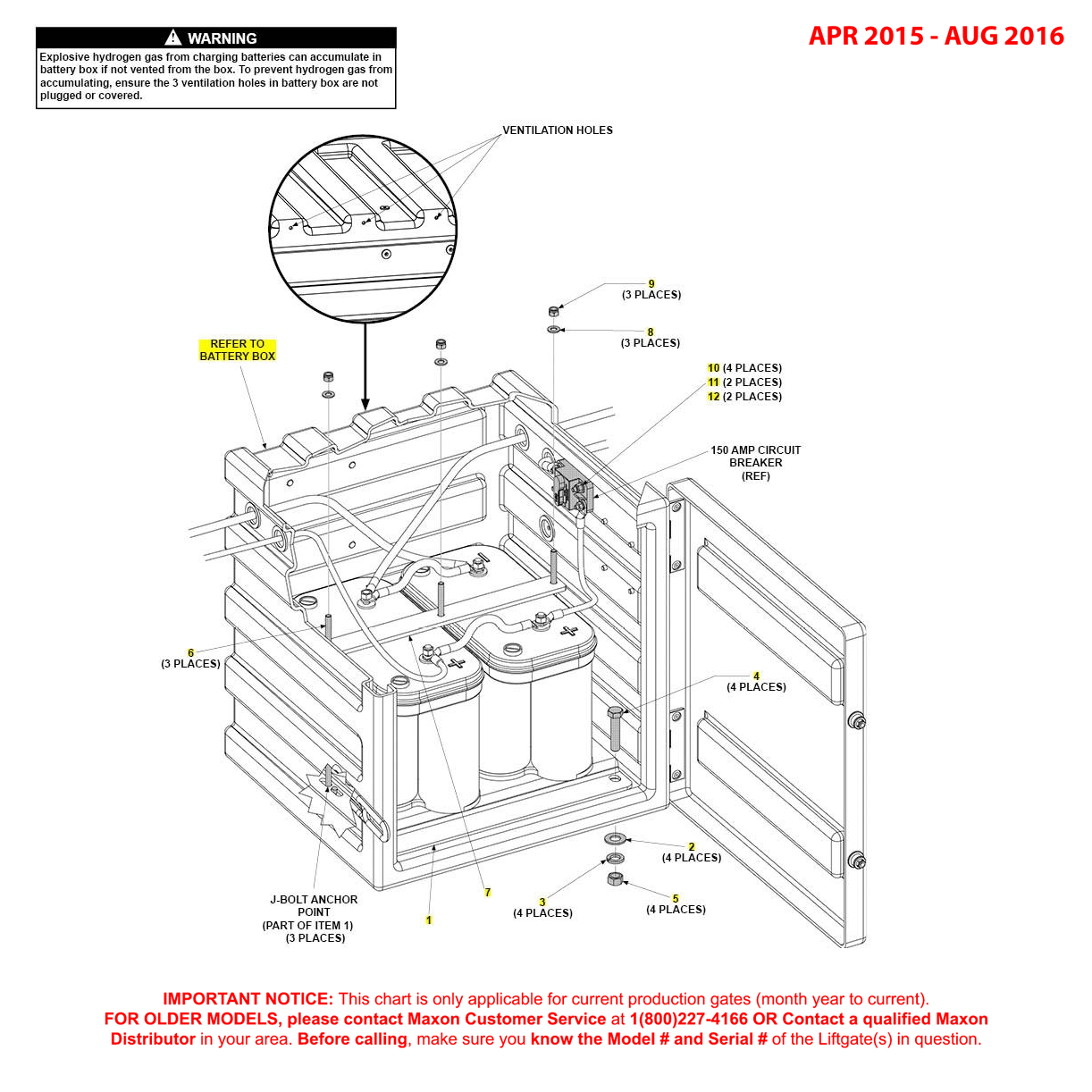 GPT (Apr 2015 - Aug 2016) Optional Battery Box Assembly Diagram