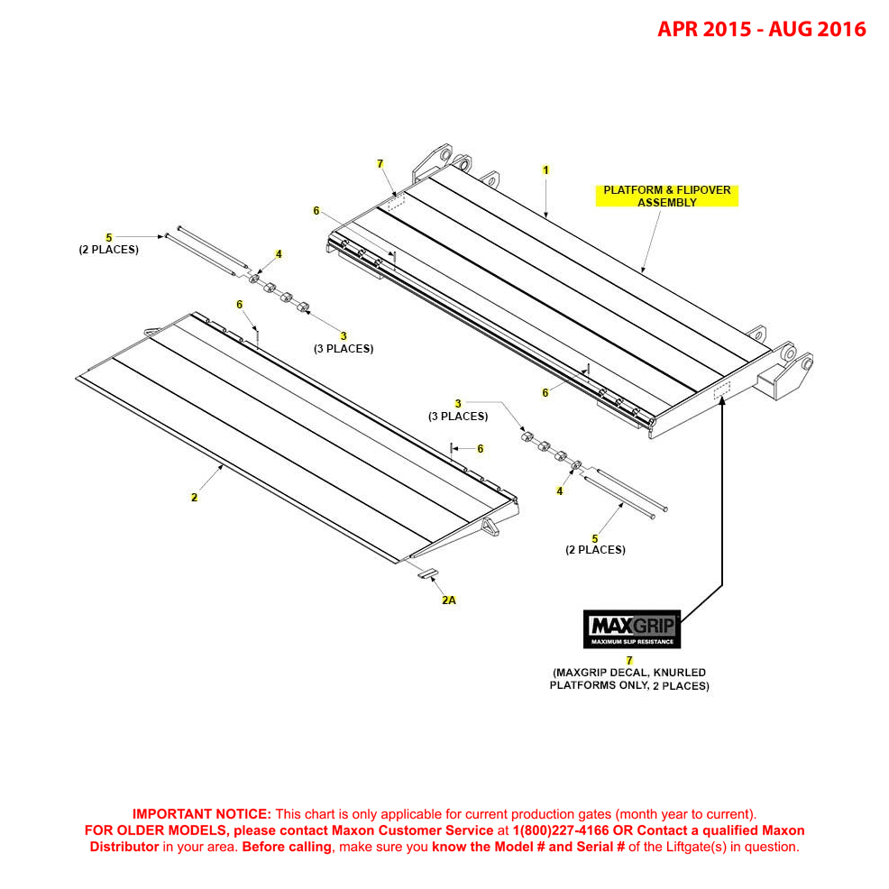 GPT (Apr 2015 - Aug 2016) Platform And Flipover Assembly