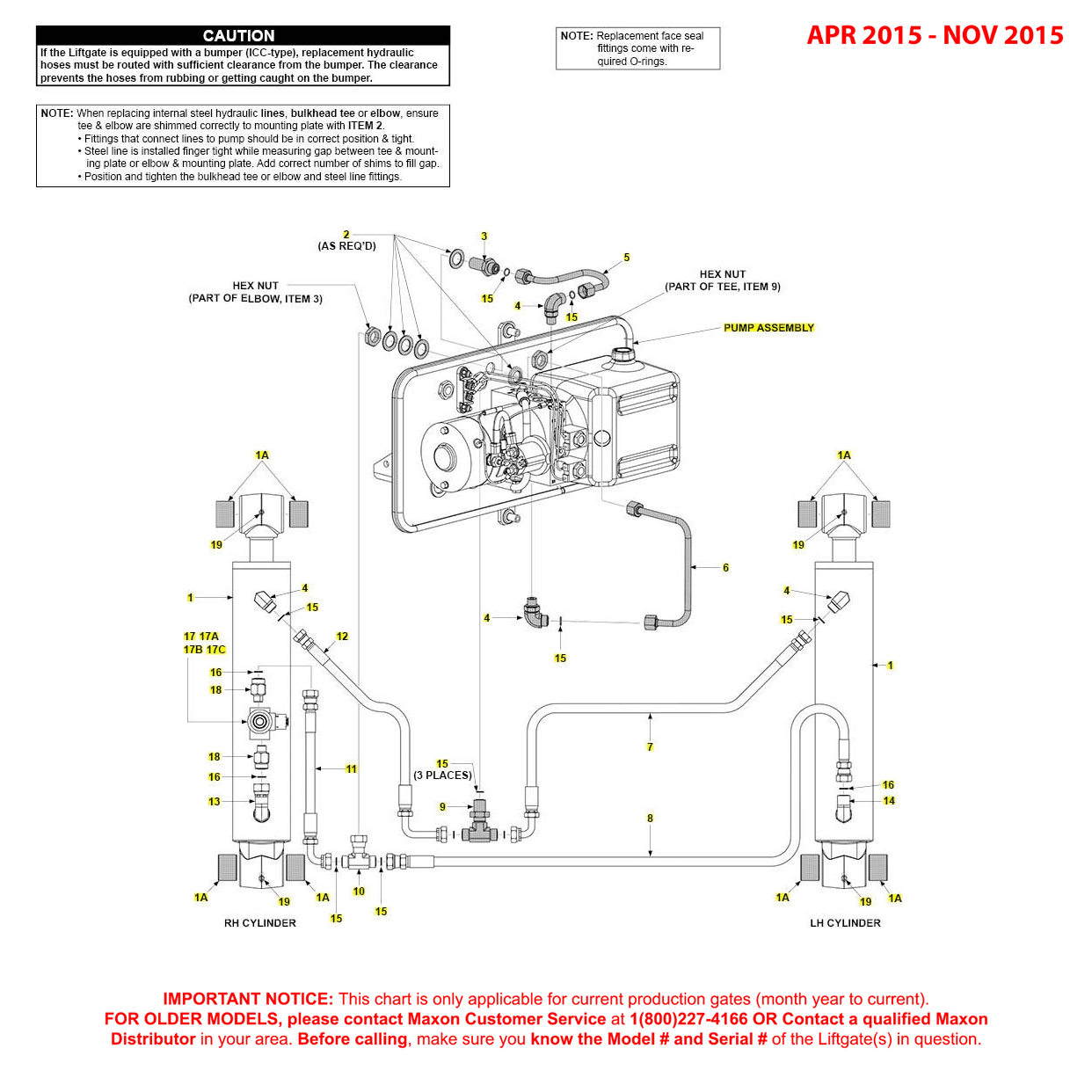 GPT (Apr 2015 - Nov 2015) Power Down Hydraulic Systems Diagram